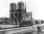 FILE - This 1911, file photo shows the Notre Dame Cathedral, on the island called Ile de la Cite in Paris. Art experts around the world reacted with horror to news of the fire that ravaged cathedral on Monday, April 15, 2019. One shell-shocked art expert is calling the beloved Gothic masterpiece 'one of the great monuments to the best of civilization.' (AP Photo/File)