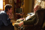 This image released by Sony Pictures Classics shows Olivia Colman, left, and Anthony Hopkins in a scene from