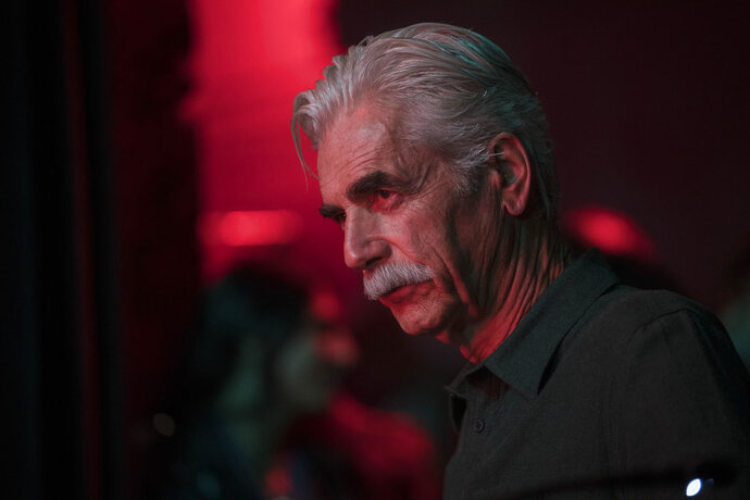 This image released by Warner Bros. shows Sam Elliott in a scene from the latest reboot of the film,