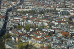 FILE - In this Thursday, April 4, 2019 file photo, apartment buildings in the district Mitte photographed from the television tower in Berlin, Germany. Voters in Berlin backed a non-binding, controversial proposal for the Berlin regional government to take over about 240,000 apartments worth billions from corporate owners to curb sharply rising rents in the German capital. (AP Photo/Markus Schreiber, File)