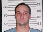 This 2003 photo provided by the Tennessee Department of Correction shows Curtis Ray Watson. The Tennessee convict suspected of killing a longtime corrections employee and escaping a prison on a tractor could have left the state, authorities said Thursday as the manhunt for the elusive inmate intensified.(Tennessee Department of Correction via AP)