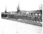 In this photo provided by the U.S. Army Women's Museum, members of the 6888th battalion stand in formation in Birmingham, England, in 1945. The Women's Army Corps battalion, which made history as the only all-female Black unit to serve in Europe during World War II, is set to be honored by Congress. (U.S. Army Women's Museum via AP)