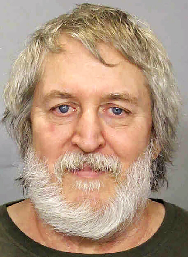 This booking photo released on Wednesday, May 6, 2020, by the Iowa Department of Public Safety shows Clark Perry Baldwin, of Waterloo, Iowa. Investigators say that DNA evidence links Baldwin, a former long-haul trucker, to the deaths of three women whose bodies were found in Tennessee and Wyoming in the early 1990s. (Iowa Department of Public Safety via AP)