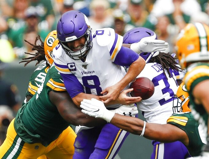 Cousins, Vikes lament mistakes, opportunities lost vs. Pack
