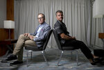 Director Tom McCarthy, left, and Matt Damon pose for portrait photographs for the film 'Stillwater', at the 74th international film festival, Cannes, southern France, Sunday, July 11, 2021. (Photo by Vianney Le Caer/Invision/AP)