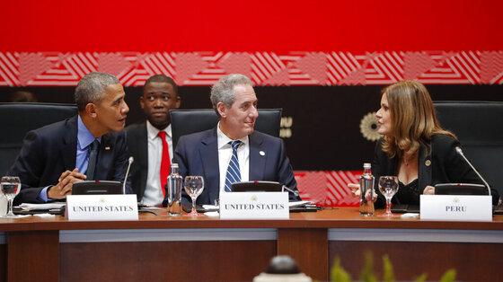 Barack Obama, Michael Froman, Mercedes Araoz