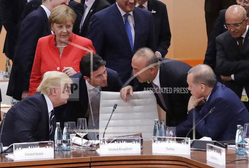 APTOPIX Trump Germany G20