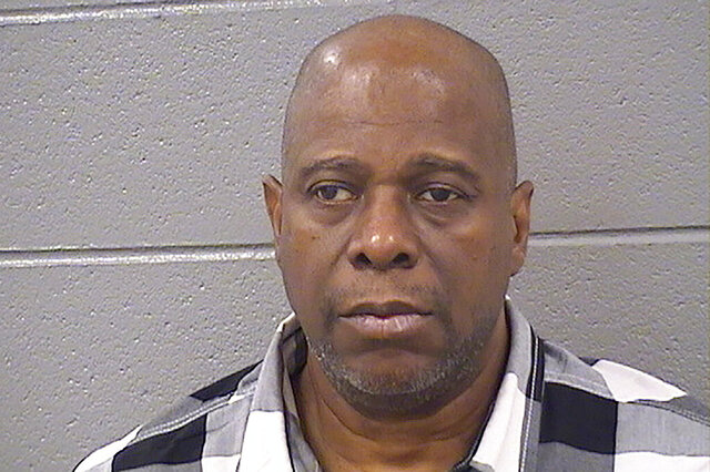 In this undated photo provided by the Cook County (Illinois) Sheriff's Office is former Chicago police Officer Lowell Houser. Houser, found guilty of second-degree murder in the off-duty shooting of an unarmed man in 2017 was sentenced Monday, Feb. 10, 2020, to 10 years in prison. (Cook County Sheriff via AP)