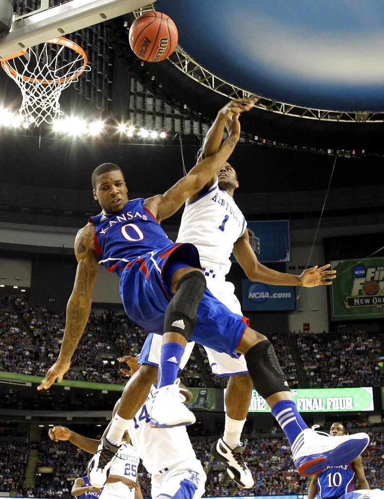 APTOPIX Final Four Kentucky Kansas Basketball