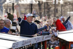 New England Patriots head coach Bill Belichick waves to the crowd during the New England Patriots parade through downtown Boston, Tuesday, Feb. 5, 2019, to celebrate their win over the Los Angeles Rams in Sunday's NFL Super Bowl 53 football game in Atlanta. (AP Photo/Michael Dwyer)