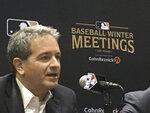Tampa Bay Rays principal owner Stuart Sternberg speaks at the baseball winter meetings in Las Vegas, Tuesday, Dec. 11, 2018. (AP Photo/Ron Blum)