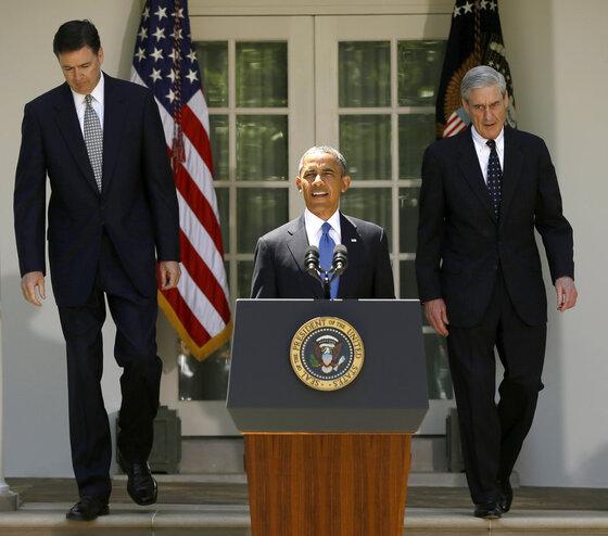 Barack Obama, James Comey, Robert Mueller