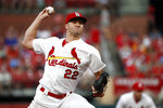 St. Louis Cardinals starting pitcher Jack Flaherty throws during the third inning of a baseball game against the Pittsburgh Pirates Tuesday, July 16, 2019, in St. Louis. (AP Photo/Jeff Roberson)