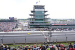 Cars take to the track during the final practice session for the Indianapolis 500 IndyCar auto race at Indianapolis Motor Speedway, Friday, May 24, 2019, in Indianapolis. (AP Photo/AJ Mast)