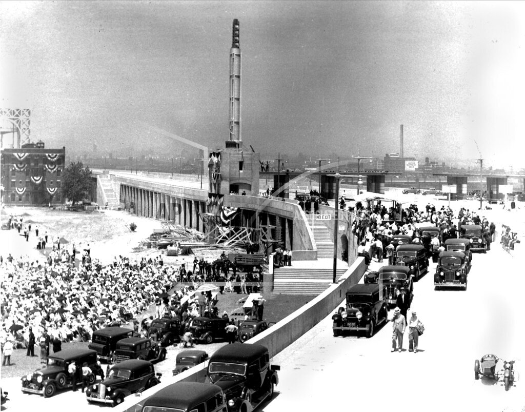 Associated Press Domestic News New York United States NYC TRIBOROUGH BRIDGE OPENS 1936