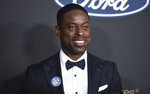 FILE - Sterling K. Brown arrives at the 51st NAACP Image Awards on Feb. 22, 2020, in Pasadena, Calif. Brown, Viola Davis and LeBron James are among several honorees at the AAFCA TV Honors later this month. The African American Film Critics Association announced the recipients of the second annual event on Wednesday. The virtual ceremony is scheduled to air Aug. 22. (Photo by Richard Shotwell/Invision/AP, File)