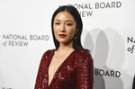 FILE - In this Tuesday, Jan. 8, 2019 file photo, actress Constance Wu attends the National Board of Review awards gala at Cipriani 42nd Street in New York. Wu appeared to be unhappy her ABC sitcom