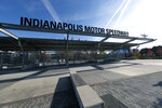 Gate one is shown at Indianapolis Motor Speedway in Indianapolis, Monday, Nov. 4, 2019. Indianapolis Motor Speedway and the IndyCar Series were sold to Penske Entertainment Corp. in a stunning move Monday that relinquishes control of the iconic speedway from the Hulman family after 74 years.  (AP Photo/AJ Mast)