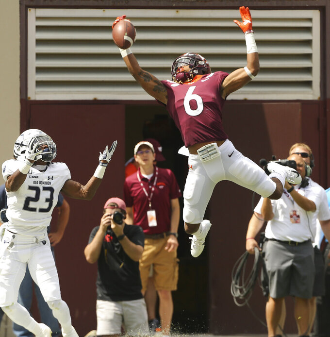 Willis leads Virginia Tech past Old Dominion, 31-17