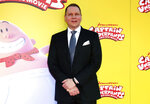"""FILE - Dav Pilkey arrives at the premiere of """"Captain Underpants: The First Epic Movie"""" in Los Angeles on May 21, 2017. A graphic novel for children from the wildly popular """"Captain Underpants"""" series, """"The Adventures of Ook and Glu,"""" is being pulled from library and book store shelves after its publisher said it """"perpetuates passive racism."""" (Photo by Willy Sanjuan/Invision/AP, File)"""