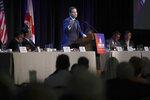 Sen. Marco Rubio, R-Fla., speaks during a Forum Club meeting on Wednesday, Aug. 21, 2019, in West Palm Beach, Fla. (AP Photo/Brynn Anderson)