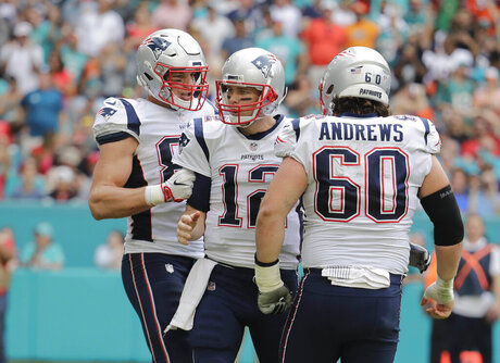 Tom Brady, Rob Gronkowski, David Andrews