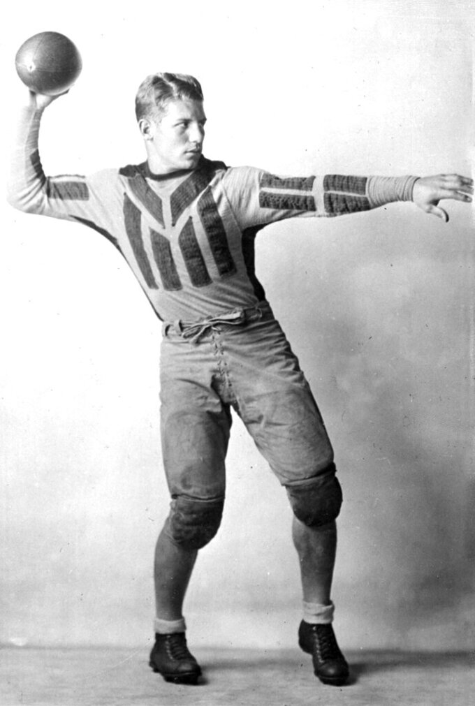 FILE - This is a 1931 file photo showing Glen Presnell of the Portsmouth Spartans football team. The 1930 season was played with 11 clubs, including the Portsmouth Spartans _ who became the Detroit Lions in 1934. (AP Photo/File)