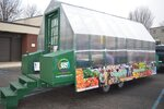 Chipping Hill Micro Farms showcases a new mobile greenhouse during a lesson for the Montgomery County Intermediate Unit Head Start class on Jan. 14 outside of Ambler Borough Hall in Ambler, Pa. (Rachel Ravina/The Reporter via AP)