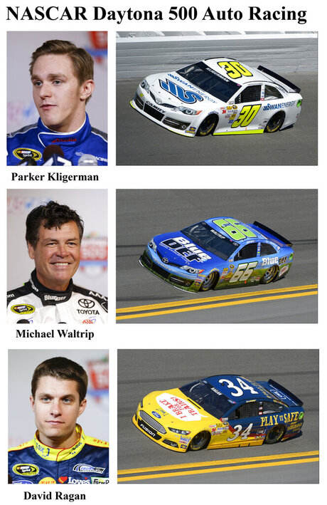Parker Kligerman, Michael Waltrip, and David Ragan