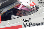 IndyCar driver Will Power prepares to drive in IndyCar Series Open Testing, Wednesday, Feb. 12, 2020, in Austin, Texas. Drivers have mostly praised the new aeroscreen design, a safety innovation for driver protection in the cockpit. (AP Photo/Eric Gay)