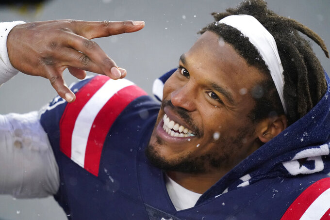 New England Patriots quarterback Cam Newton leaves the field after an NFL football game against the New York Jets, Sunday, Jan. 3, 2021, in Foxborough, Mass. (AP Photo/Elise Amendola)