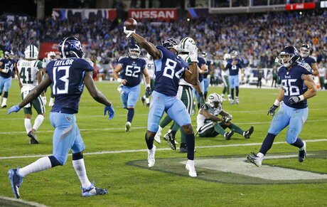 APTOPIX Jets Titans Football