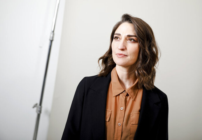 """This March 26, 2019 photo shows musician Sara Bareilles posing for a portrait in New York. Her latest album, """"Chaos,"""" released in April, marks her return to pop music after a nearly six-year hiatus. It follows 2013's """"The Blessed Unrest,"""" which boasted the successful single """"Brave"""" and scored her a Grammy nomination for album of the year. During that gap, she wrote music for and later starred in the Broadway musical, """"Waitress."""" She's earned two Tony Award nominations and released the theater album, """"What's Inside: Songs from Waitress,"""" in 2015. (Photo by Brian Ach/Invision/AP)"""