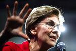 Democratic presidential candidate Sen. Elizabeth Warren, D-Mass., speaks at