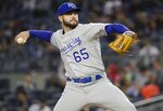 Kansas City Royals' Jakob Junis delivers a pitch during the second inning of a baseball game against the New York Yankees, Friday, April 19, 2019, in New York. (AP Photo/Frank Franklin II)