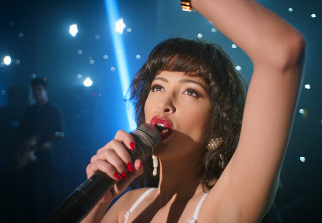 Christian Serratos portrays Selena Quintanilla from