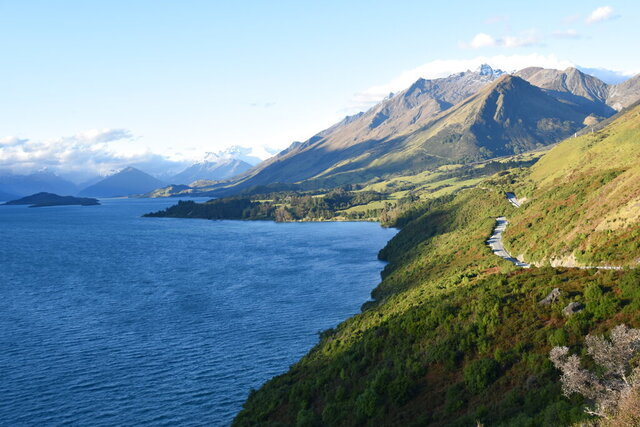 "This Dec. 22, 2019 photo shows the northern end of Lake Wakatipu in Glenorchy, New Zealand where several scenes from ""The Lord of the Rings"" movies were filmed. (Malcolm Foster via AP)"