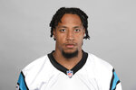 FILE - This is a 2019 file photo showing Eric Reid of the Carolina Panthers NFL football team. The Panthers have released Eric Reid just 13 months after giving the veteran safety a three-year, $22 million contract extension.  (AP Photo/File)