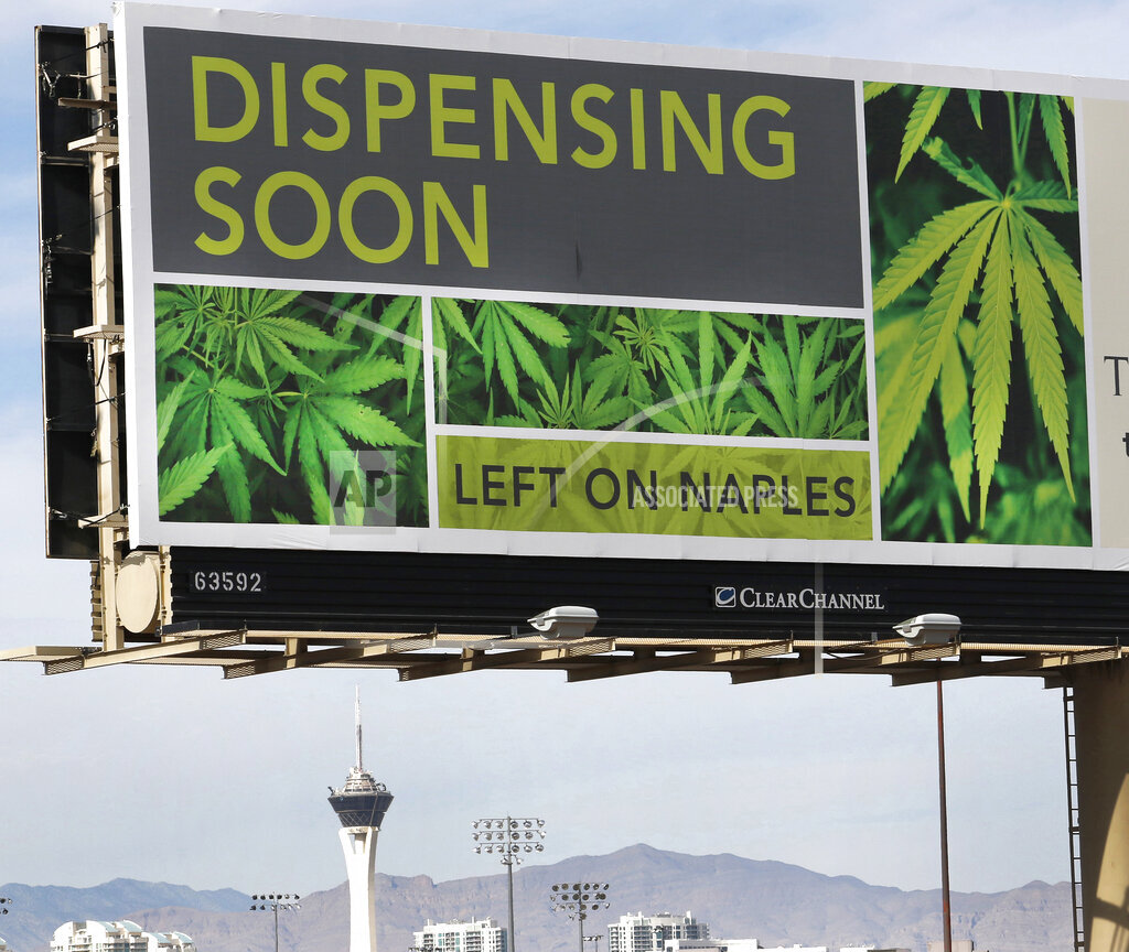 CTR ASSOCIATED PRESS A  Nevada USA NYWWP Legal Marijuana