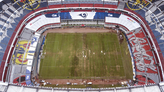 Mexico's famed Azteca Stadium to restore turf field