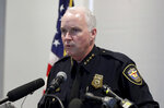 Fort Worth Police interim Chief Ed Kraus responds to questions during a news conference at the Bob Bolen Public Safety Complex in Fort Worth, Texas, Tuesday, Oct. 15, 2019. (AP Photo/Tony Gutierrez)