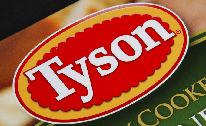 FILE - This Nov. 18, 2011 file photo shows a Tyson food product, in Montpelier, Vt.  Tyson Foods President and CEO Dean Banks is leaving the poultry company for personal reasons, having served less than a year in the top post.  The company said Wednesday, June 2, 2021, that Donnie King will succeed Banks, effective immediately.  (AP Photo/Toby Talbot, File)