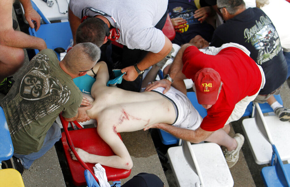 Spectators injured