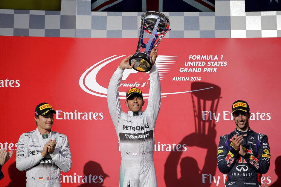 Lewis Hamilton, Daniel Ricciardo, Nico Rosberg