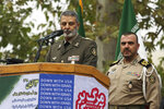 Commander of the Iranian army Gen. Abdolrahim Mousavi speaks an anti-U.S. annual rally in front of the former U.S. Embassy in Tehran, Iran, Monday, Nov. 4, 2019. The rally revived decades-old cries of