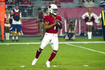 Arizona Cardinals quarterback Kyler Murray (1) in action during an NFL preseason game against the Los Angeles Chargers on 8/8/19 in Glendale, Ariz. (Gene Lower via AP)