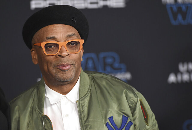 FILE - In this Dec. 16, 2019 file photo, director Spike Lee arrives at the world premiere of