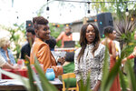 This image released by HBO shows Issa Rae, left, and Yvonne Orji in a scene from the fourth season premiere episode of