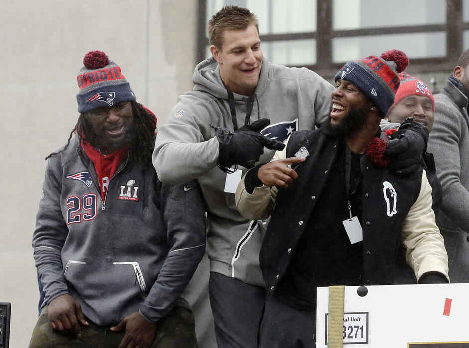 Rob Gronkowski, James White, LeGarrette Blount