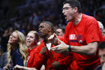 Liberty fans cheer during the second half of the team's first-round game against Mississippi State in the NCAA men's college basketball tournament Friday, March 22, 2019, in San Jose, Calif. (AP Photo/Ben Margot)